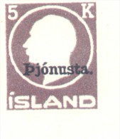 FALSCH FALSO ISLANDE ISLANDIA ISLAND YVERT SERVICE NR. 43 MNH MINT NOT HINGED NON DENTELE SIN DENTAR - Otros
