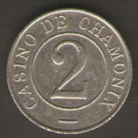CASINO TOKEN GETTONE FRANCIA CHAMONIX 2 - Casino