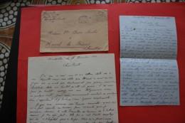 RARE GUERRE WW2-NOV 1940 LETTRE FM  15é RA  1G 2éBAT QUARTIER LEPIC MONTPELLIER CADM &CAD > MURIEL LES BEZIERS 34 - Marcofilia (sobres)