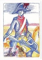 FRANCE - 4 Cartes Maximum - Révolution Française - St Just, La Tour D'Auvergne, Arbre De La Liberté,  Gendarmerie...1991 - Maximumkarten