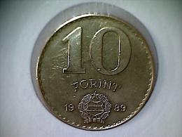 Hongrie 10 Forint 1989 - Hongrie