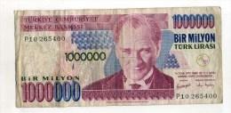 - TURQUIE  . BILLET   1000000 L. 1970 . - Turquie