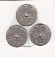 3 X 5 Centimes  Léopold III 1938 FR/FL - 1939 FL/FR - 1940 FL/FR - 01. 5 Centimes