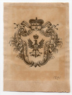 EX LIBRIS--Stanislaw RADZIWILL (Pologne )--Blason Et Armes De La Maison Princière--n°1271 - Ex Libris