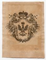 EX LIBRIS--Stanislaw RADZIWILL (Pologne )--Blason Et Armes De La Maison Princière--n°1271 - Ex-libris