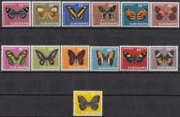 Suriname - Luchtpostzegels - Vlinders/Butterflies/Schmetterlinge/Papillons - MNH - NVPH LP 47-59 - Vlinders