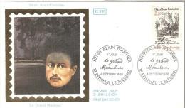 1986 ENVELOPPE PREMIER JOUR  HENRI ALAIN FOURNIER (obliteration EPINEUIL LE FLEURIEL ) - FDC
