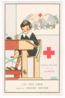 CROIX-ROUGE DE BELGIQUE - Croix-rouge De La Jeunesse, J'ai Des Amis Dans Le Monde.., M. Salzedo - Etat Neuf!-  2 Scans - Croix-Rouge