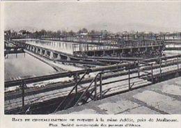 1953  --  ALSACE HAUT RHIN 68  --  BACS DE CRISTALLISATION DE POTASSE A LA MINE ADELISE PRES MULHOUSE  3A029 - Old Paper