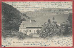 68  - Ste MARIE Aux MINES - MARKIRCH - Ferme FASSLER - Timbre Taxe Suisse Au Dos - BADEN - AARGAU - 2 Scans - Sainte-Marie-aux-Mines