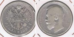 RUSIA ROUBLE RUBLO 1897 PLATA SILVER Y - Rusia