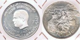 TUNEZ DINAR SAN AGUSTIN 1969 PLATA SILVER Y - Túnez