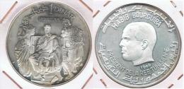 TUNEZ DINAR VIRGILIO 1969 PLATA SILVER Y - Túnez