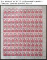 WEST-SACHSEN 156-61x **, 1946, Abschiedsserie, Ohne Wz., Im Vollständigen Bogens - Sovjetzone
