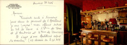 37 - VERNOU-SUR-BRENNE - Triple Carte Publicitaire Hotel - France