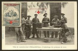 ECKMÜHL-ORAN Militaria Epluchage...Croix Rouge (Timbre Union Des Femmes De France) Algérie - Oran