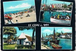 Le GRAU-du-ROI (Gard) - La Plage Entrée Du Port, Départ Pour Promenade En Mer, Cabane Du Boucanet, Canal, Port Et Phare - Le Grau-du-Roi