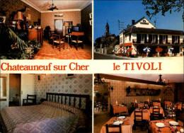 18 - CHATEAUNEUF-SUR-CHER - Carte Pubhotel Resto - Multi Vues - Chateauneuf Sur Cher