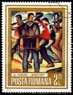 """ROMANIA 1973 Paintings Showing Workers -2l.75   - """"Miners"""" (A. Phoebus)  FU - Used Stamps"""