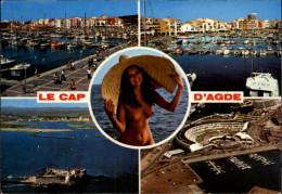 34 - CAP D'AGDE - Femme Nue - Nudisme - Naturisme - Agde