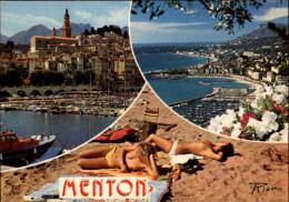 06 - MENTON - Femme Nue - Nudisme - Naturisme - Menton