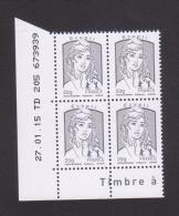 FRANCE / 2013 / Y&T N° 4766 ** : Ciappa TVP Ecopli 20g (gommée) X 4 - Coin Daté 2015 01 27 - TD 205 - Angoli Datati