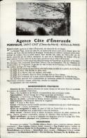 22 - SAINT-CAST - Feuillet Publictaire D'agence Immobilière - Publicités