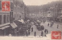 CPA Animée (27)  PONT  AUDEMER La Maraiquerie  Marché Marchands Ambulants - Pont Audemer
