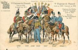 9° REGIMENT DE HUSSARDS  - MARSEILLE (13) - UNIFORME De 1793 à Début GUERRE 1914 - CPA En Très Bel état; - Reggimenti
