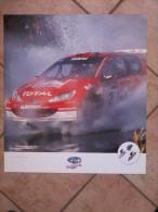Auto E Moto - Da Calen. Magneti Marelli -cm.55x50- Fiat Rally-Punto S.1600-Peugeot  WRC - 206. Retro. - Sport