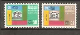 Serie Nº 368/9 Ceylon - UNESCO