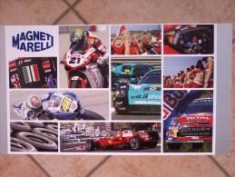 Auto E Moto - Da Calen. Magneti Marelli -cm.36x60-  Personale M.Marelli E Foto Variedi F1 E Moto GP. - Sport