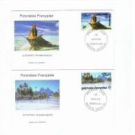 Lot  2 Enveloppes   Polynésie  Française  Premier Jour - Polynésie Française