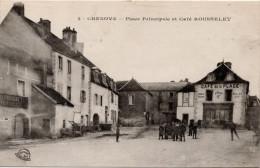 Chenove : Place Principale Et Café Rousslet (Edit. Louys Et Bauer, Dijon, N°2) - Chenove
