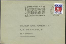 France 1968 Slogan Postmark On Cover 26-Aug-1968 Brive-la-Gaillarde, Centre De Préhistoire, Prehistory - Vor- Und Frühgeschichte