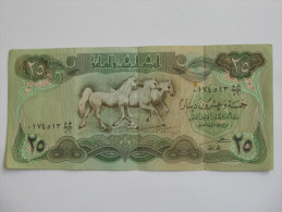 25 Twenty five  Dinars 1980/81 - IRAQ- Central Bank of Irak **** EN ACHAT IMMEDIAT ****