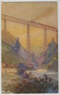 ART PC, EL VIADUCTO DEL MALLECO, RAILWAY BRIDGE,CHILE,c 1928/29 - Chile