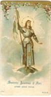 IMAGE PIEUSE HOLY Card Santini DSR 777 : Sainte Jeanne D'Arc Priez Pour Nous - Images Religieuses
