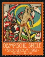 1912: Olympic Games Vignette Mnh, Postfrisch