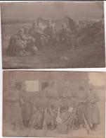 Serbian Soldiers In Second Balkan War 1913 2 Photographs Siege Of Edirne Jedren Drinopol Adrianopolis Bb150915 - Oorlog, Militair
