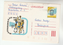1983  HUNGARY  Illus BASKETBALL Womens Championship POSTAL STATIONERY CARD Stamps Cover Sport - Postal Stationery
