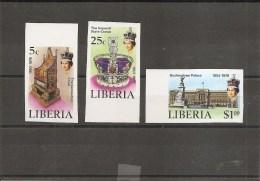 Libéria -Jubilé De Elisabeth II ( 772/74 Non Dentelés XXX -MNH) - Liberia