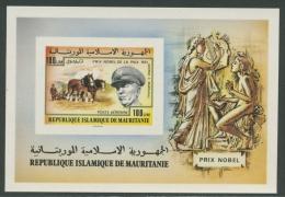 Mauretanien 1977 Nobelpreisträger Block 17 B Ungezähnt Postfrisch (G20414) - Mauretanien (1960-...)