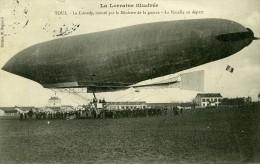 France Toul Aviation Dirigeable Lebaudy Ancienne Carte Postale CPA 1905