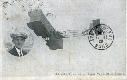 France Bielovucic Sur Bliplan Voisin Pionnier De L Aviation Ancienne Carte Postale CPA 1923 - ....-1914: Precursors