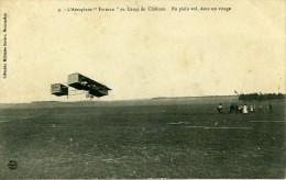 France Camp De Chalons Aeroplane Farman Pionnier De L Aviation Ancienne Carte Postale CPA 1908