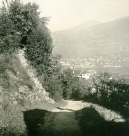 Italie Tyrol Du Sud Alpes Montagne Merano Panorama Ancienne Photo Stereoscope NPG 1900 - Stereoscopic
