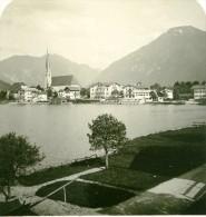 Allemagne Montagnes Bavaroise Lac Tegern Egern Ancienne Photo Stereoscope NPG 1900 - Stereoscopic