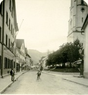 Allemagne Montagnes Bavaroise Partenkirchen Dorfstrasse Ancienne Photo Stereoscope NPG 1900 - Stereoscopic