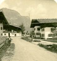 Allemagne Montagnes Bavaroise Garmish Kramer Ancienne Photo Stereoscope NPG 1900 - Stereoscopic